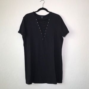 Forever21 Black Lace up Tunic